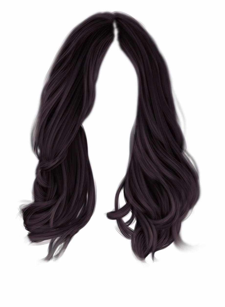 Black Hair Png , Png Download.