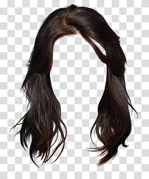 Hairstyle Wig Long hair, Free wig hairstyle dress material matting.