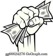 Hand With Money Clip Art.
