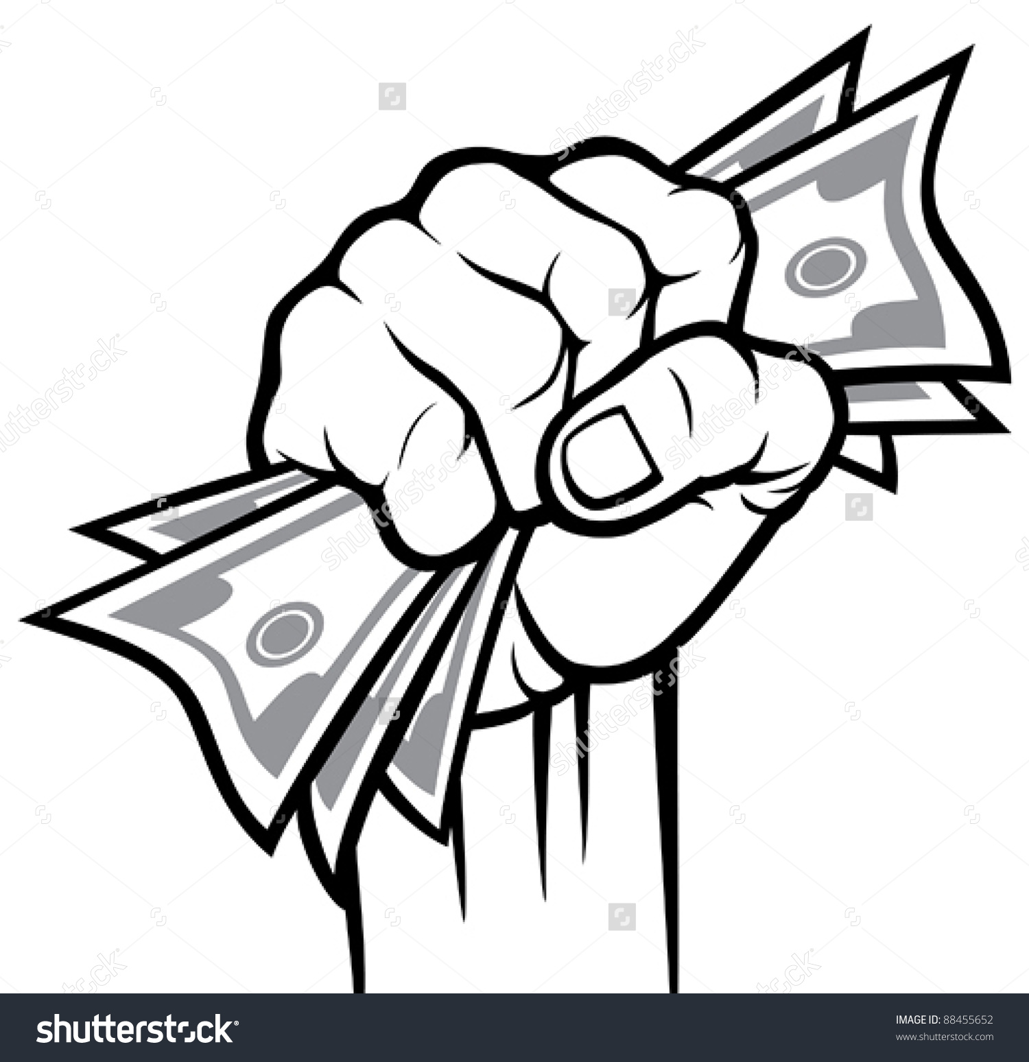 Hand Holding Money Clipart.