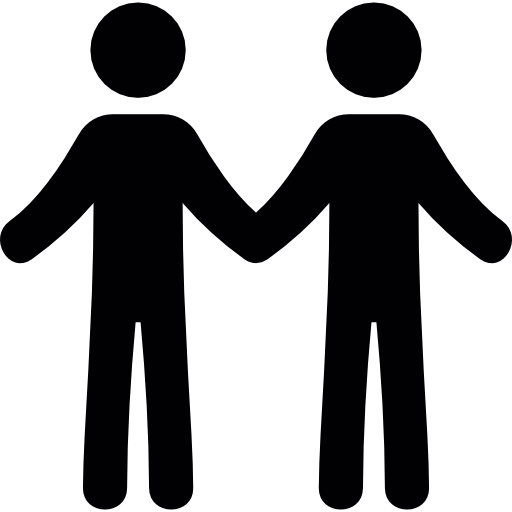 2 People Holding Hands Clipart.