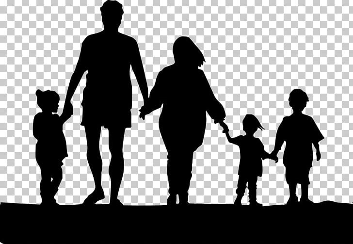 Family Holding Hands Silhouette PNG, Clipart, Black And.