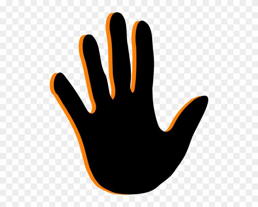 Black Handprint Clip Art.