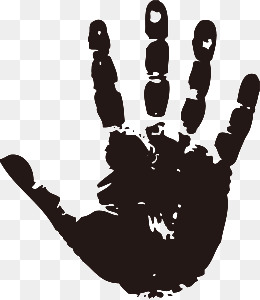 Handprint Png Black And White & Free Handprint Black And.