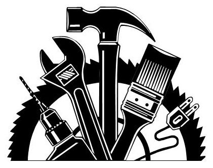 Handyman clipart black and white clipartfox.