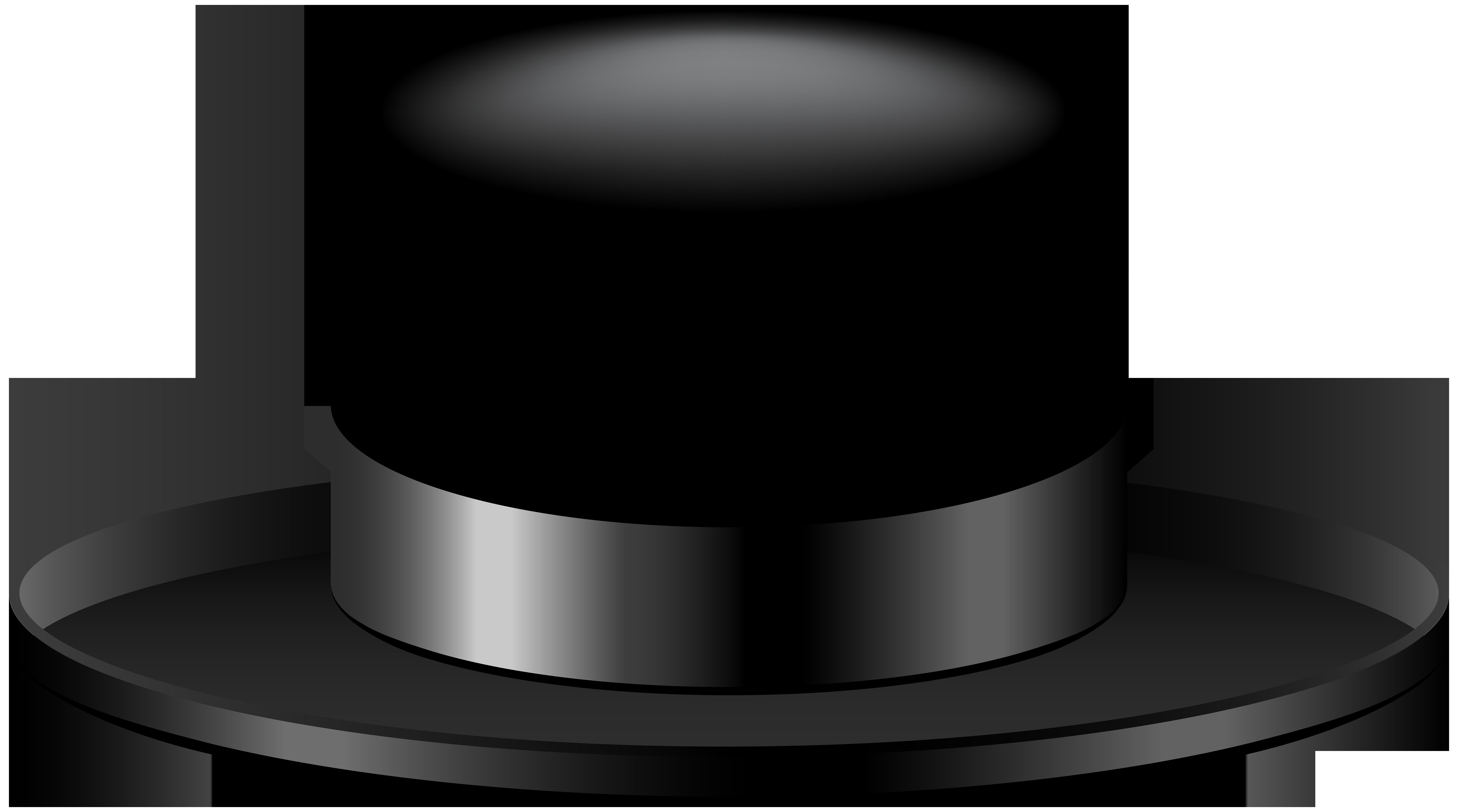 Black Hat Transparent Clip Art Image.