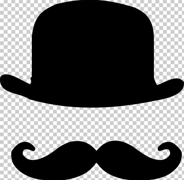 Bowler Hat Moustache Top Hat PNG, Clipart, Beard, Black And White.