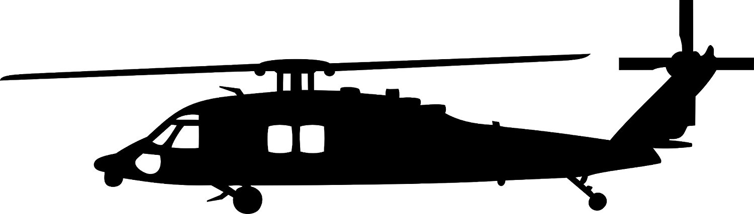 Black Hawk Helicopter Silhouette.
