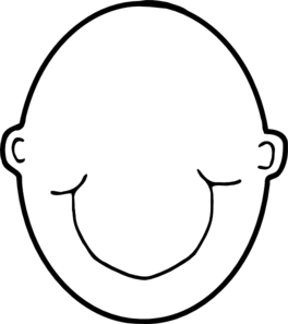White head and black head with clipart.