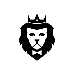 King Lion Head Logo.