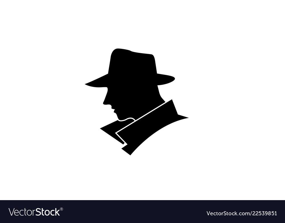 Creative black head detective logo.