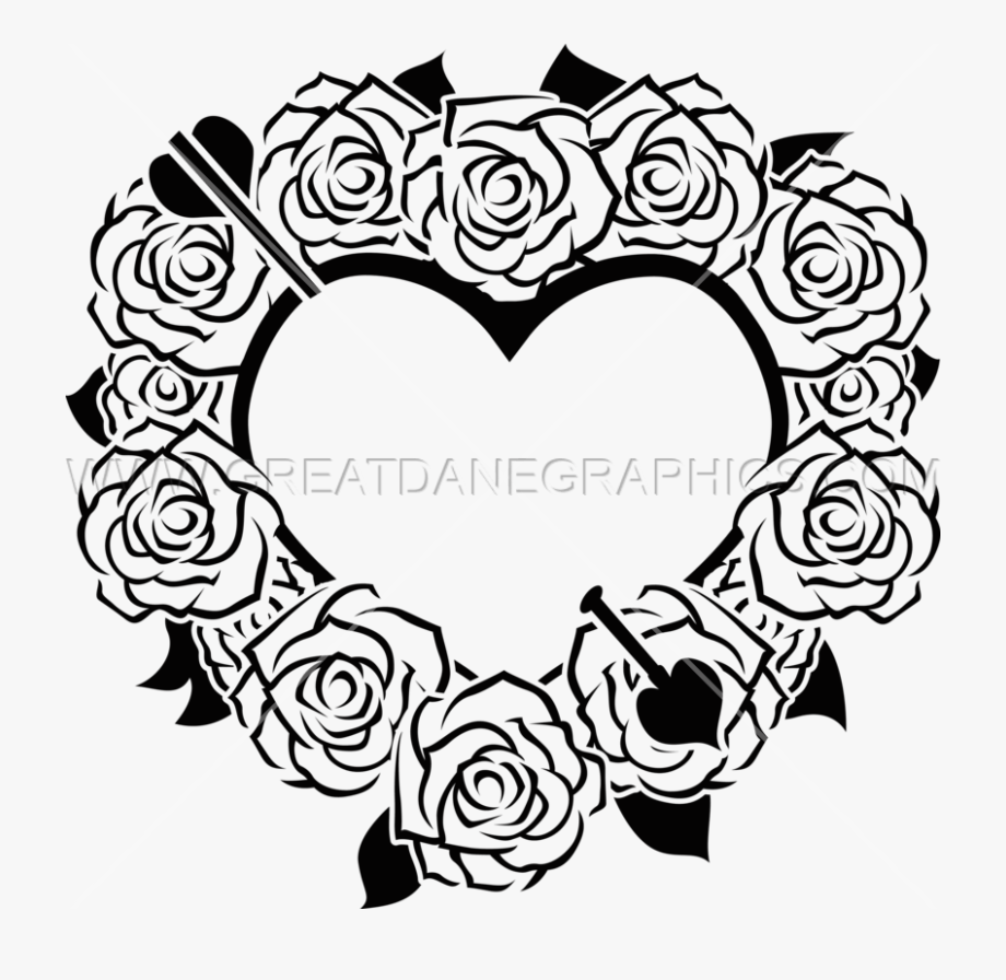 Valentine Heart & Roses.