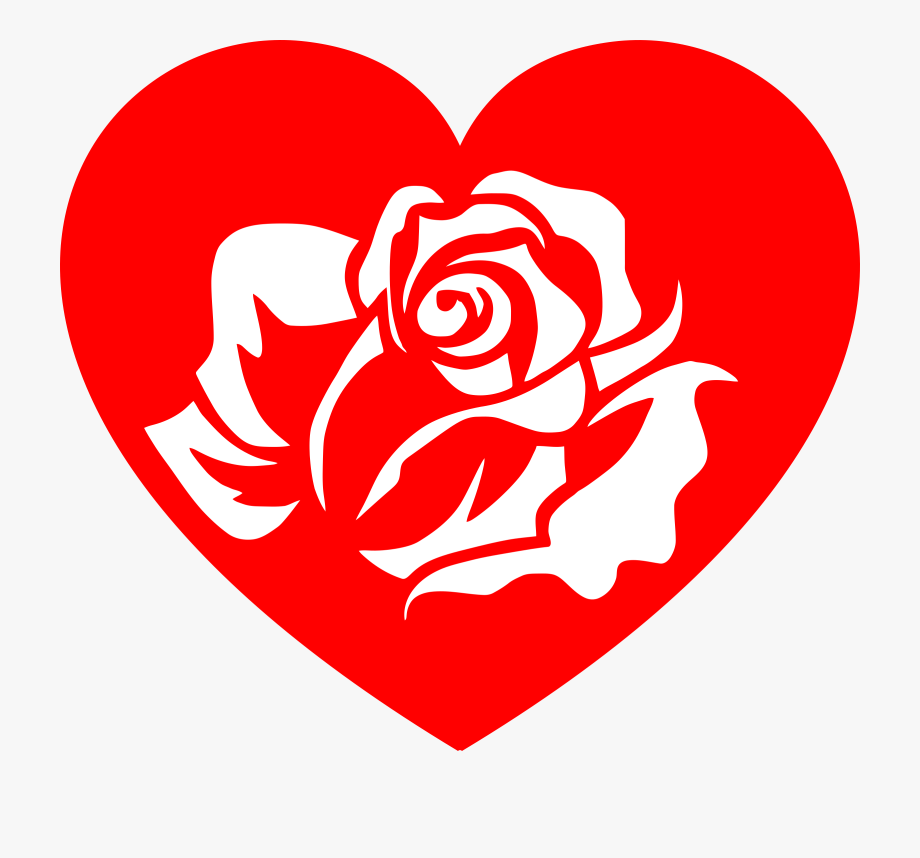 Clipart Hearts And Roses.