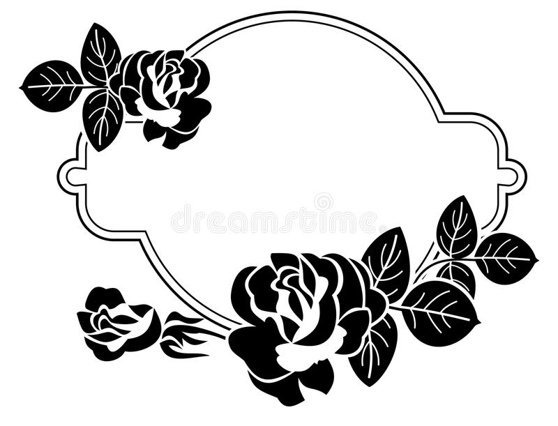 Heart And Rose Clipart Black And White.