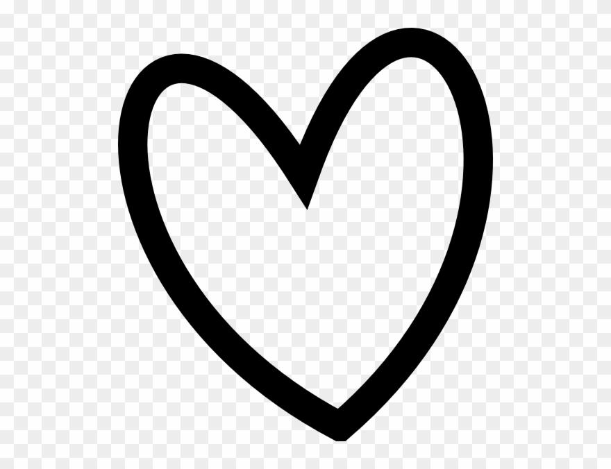 Slant Black Heart Outline Clip Art At Clker.