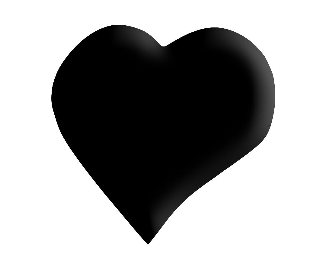 black heart png clipart transparent without background image free.
