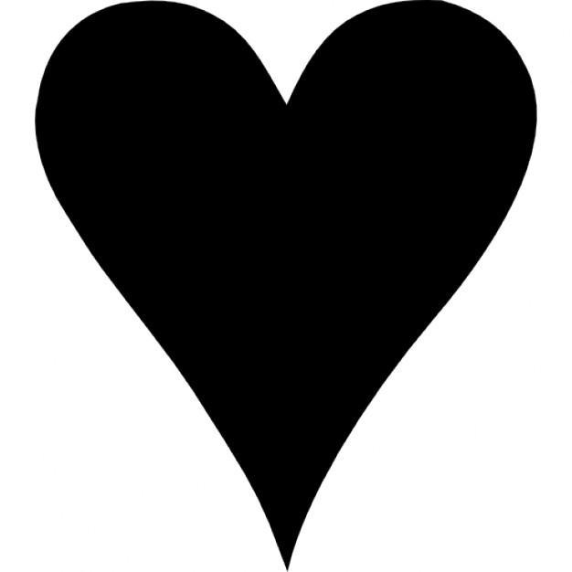 Heart Clipart Black Shape For Love.
