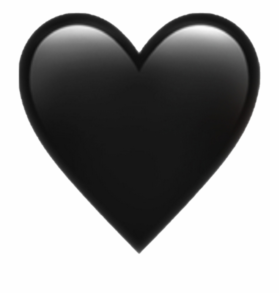 Black Heart Emoji Png Pictures And Cliparts Download.