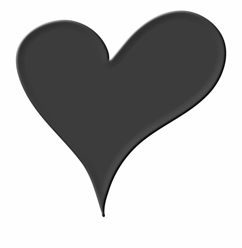 Black Heart Png Pic.
