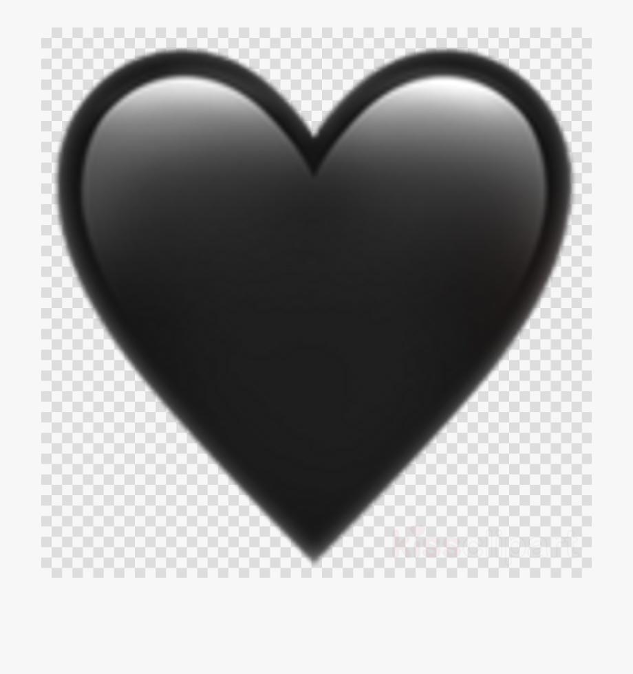 Download Iphone Black Heart Png Clipart Emoji Picsart.