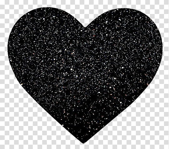 Black heart illustration transparent background PNG clipart.