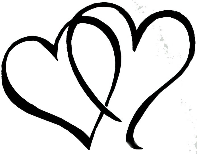 Black And White Heart Clipart Transparent.