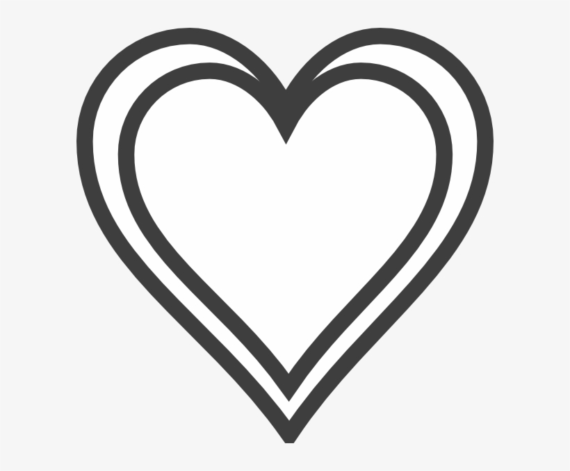 Black Heart Outline Png.