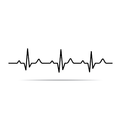 Free Heartbeat Line Black And White, Download Free Clip Art.