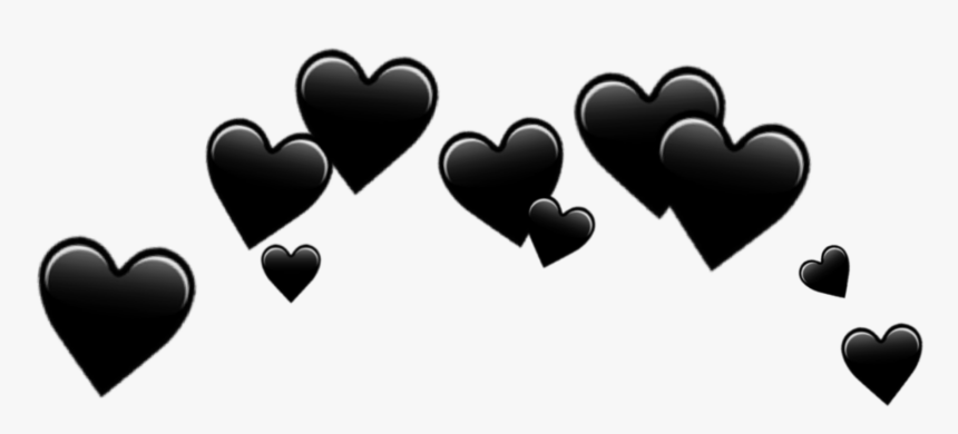 Download Hearts Black Emoji Transparent Background.