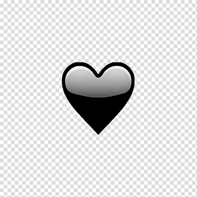 Black heart illustration, Emoji Smiley We Heart It Tumblr.