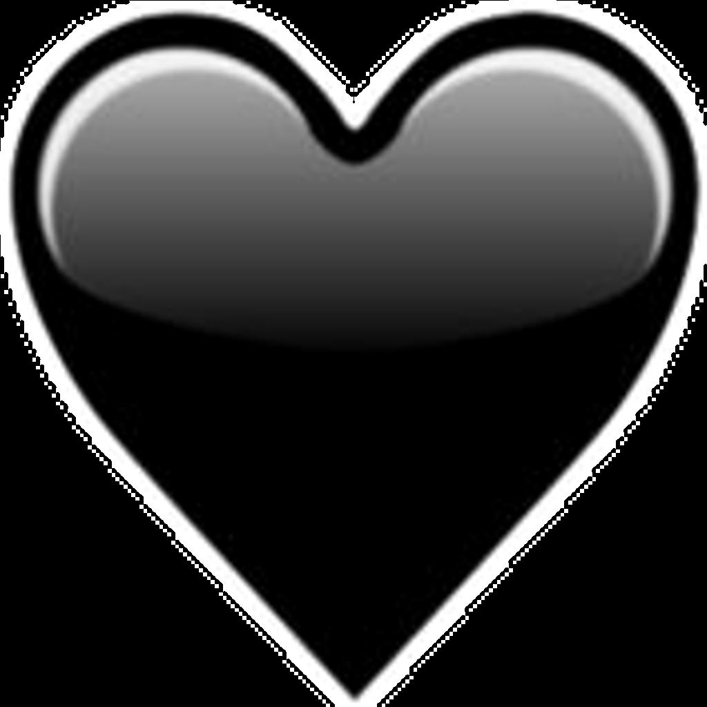 Transparent Black Heart Emoji.
