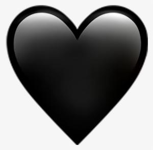 Black Heart Emoji Png PNG Images.