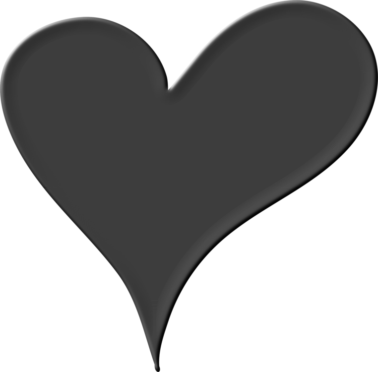 Black And White Heart Png (+).