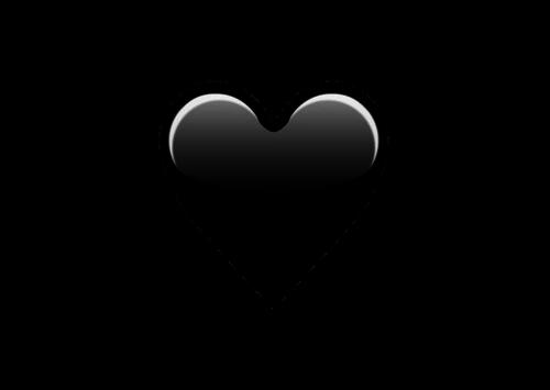 Emoji Black Heart Png.