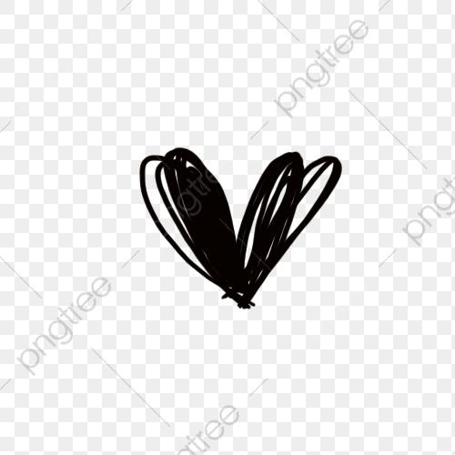 Black Heart, Heart Clipart, Black, Jane Pen PNG Transparent Image.