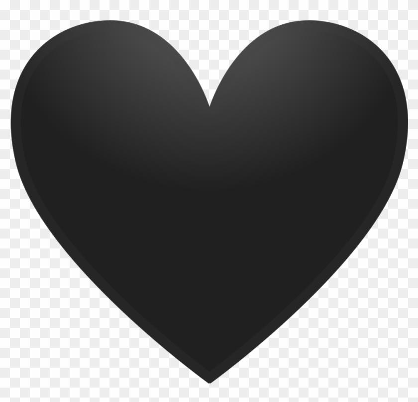 Black Heart Icon.