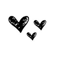 Small black heart clip art.