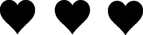Heart Clipart Black.