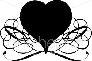 Black Heart Clip Art.