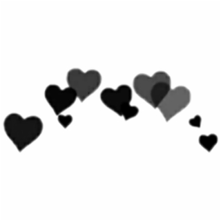 HD Black Heart Crown Png , Png Download.