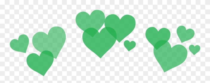 Green Hearts Png Graphic Black And White.