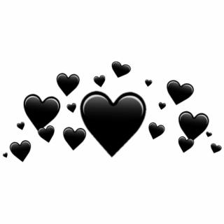 Black Hearts PNG Images.