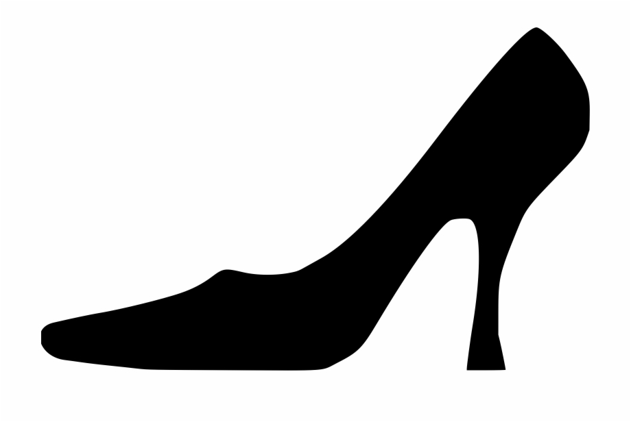 Clipart Black And White Library Shoe Silhouette Clip.