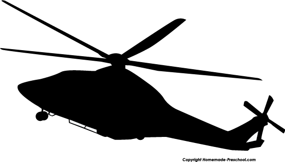 helicopter clipart silouette.