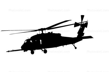 Military Helicopter Silhouette.