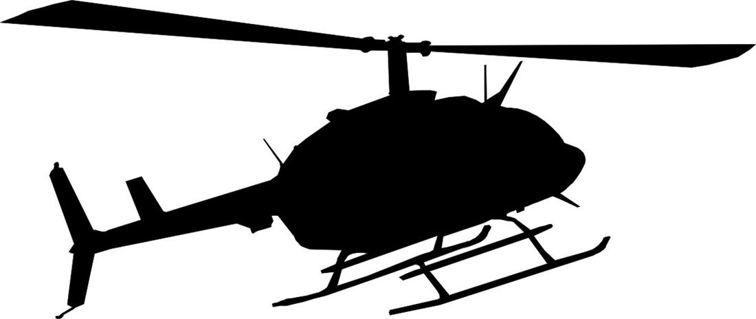helicopter silhouette.