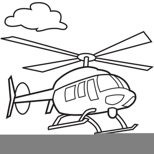 Black And White Helicopter Clipart.