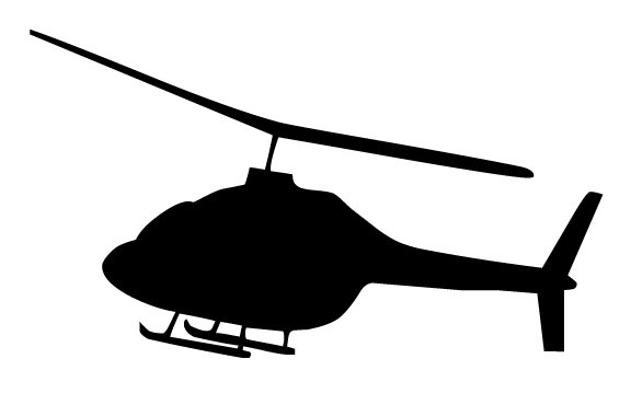 Clipart helicopter black and white 3 » Clipart Portal.