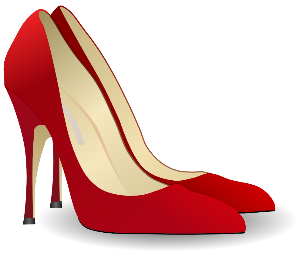 black and white high heel clipart.