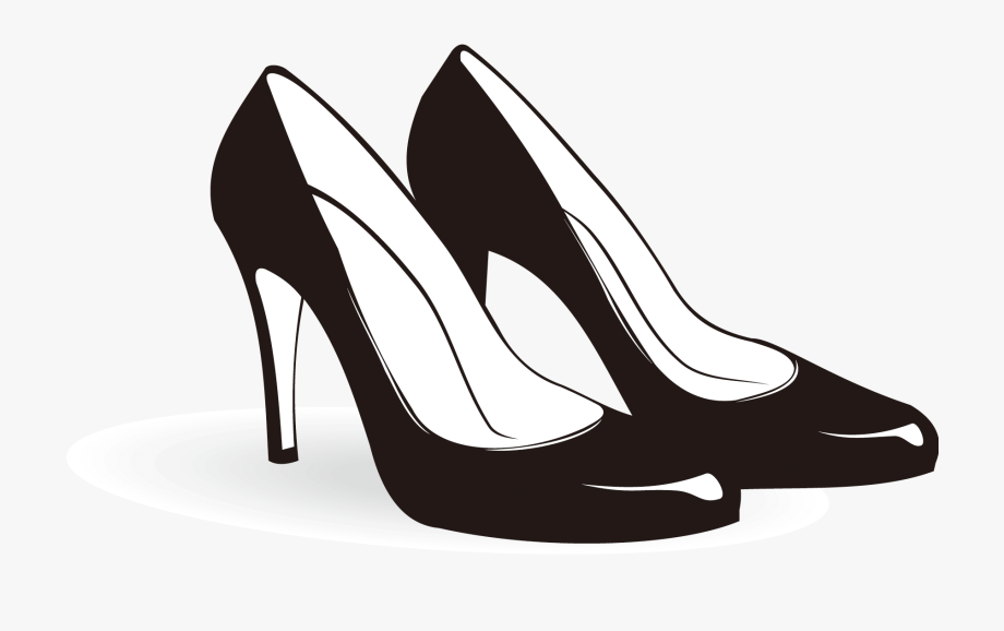Shoes Black And White Clipart.